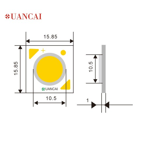 small resolution of 10w cl 15 85 15 85 11 citizen size cob led chip us bridgelux 140 150lm w high brightness good quality used in grille lamp