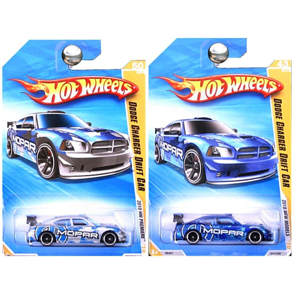 medium resolution of get quotations hot wheels 2010 premiere and new models dodge charger drift car in silver and blue set
