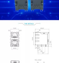 top entry rj45 female jack 8p8c 6p6c 4p4c pcb network connector chinese supplier [ 747 x 1324 Pixel ]
