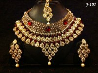 Indian Bridal Stone Necklace Sets - Buy Indian Artificial ...