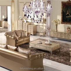 Gold Leather Sofa Set Barcelona Fs008 Luxury Contemporary Pearl Shine Italian Stainless Steel Living Room European Home Furniture