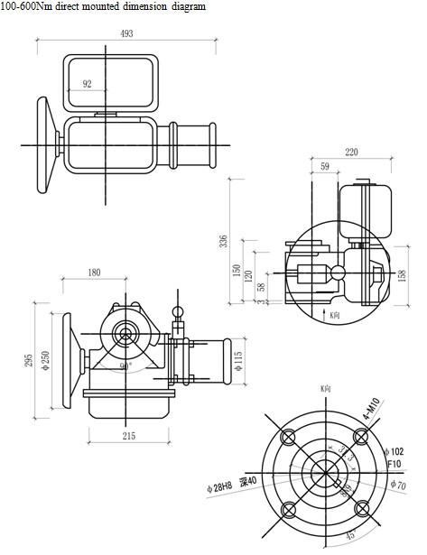Bs-60k30z 4-20ma Valve Angle Actuator Motorized Louver