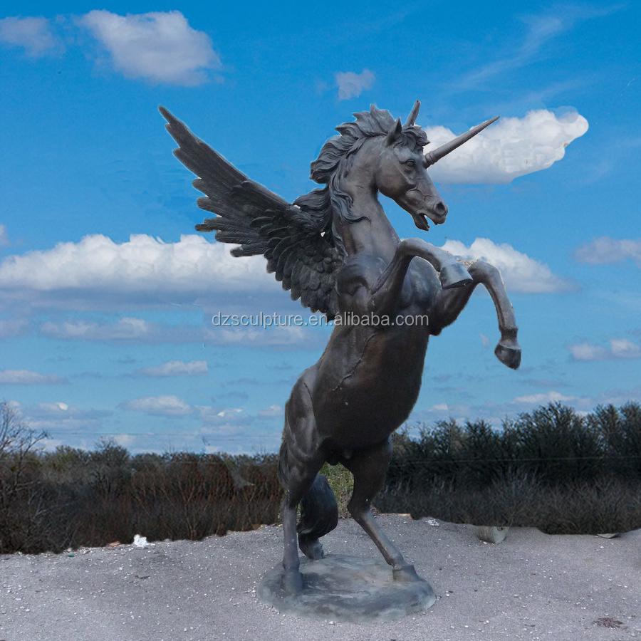 outdoor decorative bronze unicorn