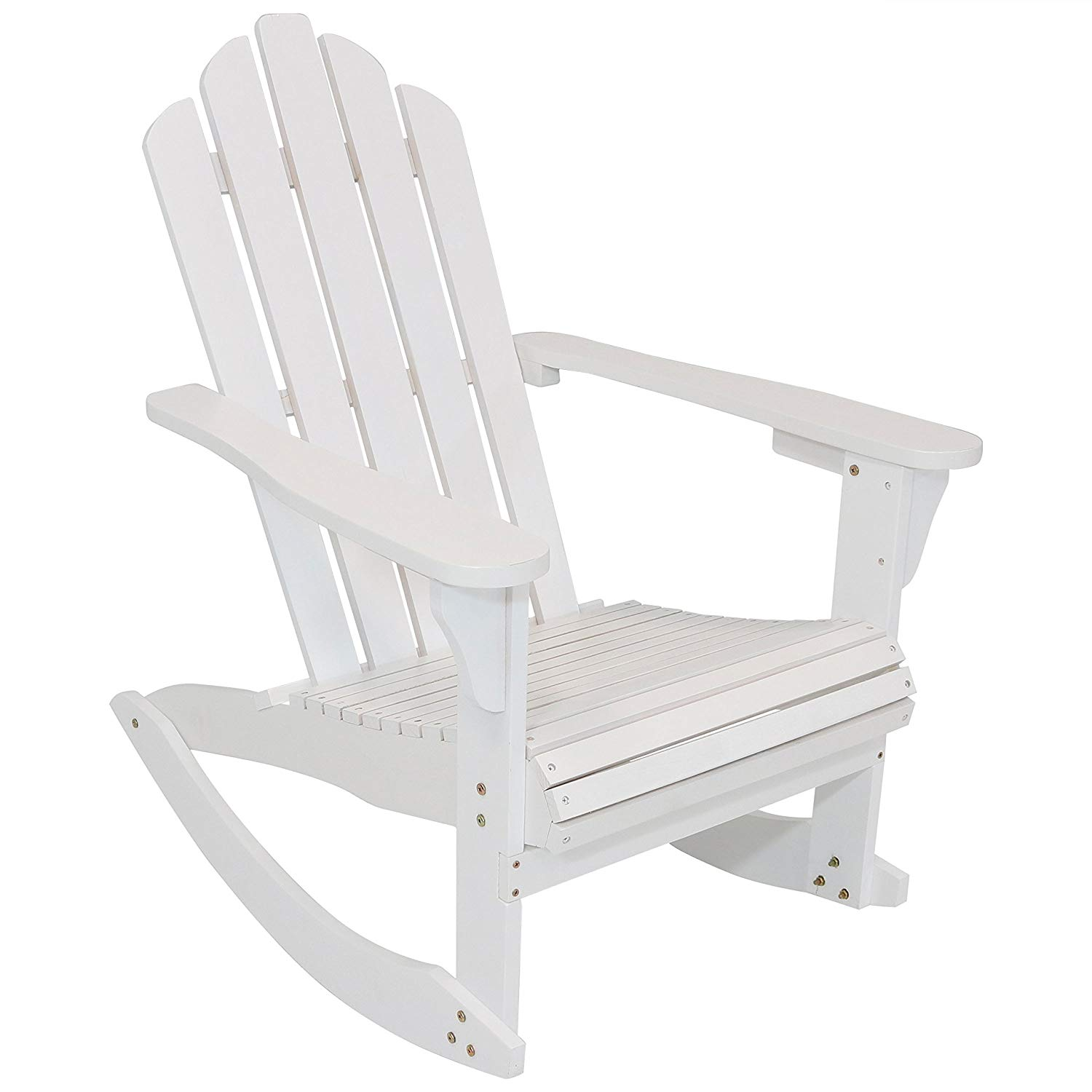 rocking chair white outdoor unique dining chairs cheap wood find get quotations sunnydaze adirondack