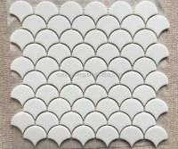 Glass Fish Scale Tile Design Backsplash Mosaic Fan Shape ...