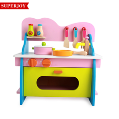 Kitchen Kid Two Tier Island New Design Wooden Toy Girl S Play Intelligent Toys