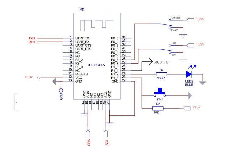 Cheap Wholesale Ble 4.0 Ibeacon Hm-10 Chip Cc2541 Module