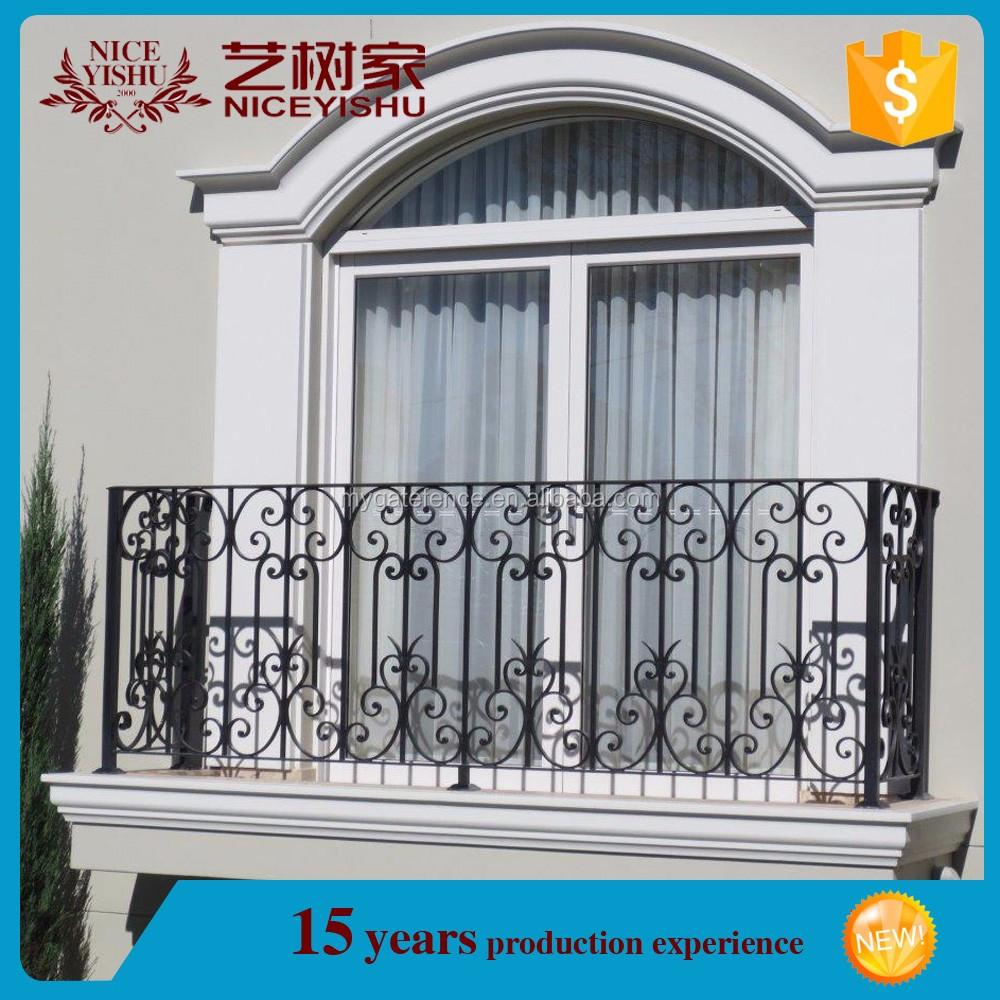 Simple Steel Balcony Grill Design,Wrought Iron Balcony