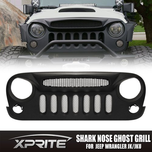 small resolution of get quotations xprite front matte black shark nose ghost grille grid grill w mesh insert for jeep