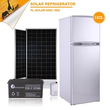 182l Low Price Hot Sale Solar Kitchen Appliance Dcac Supply Solar Powered Fridge Refrigerator