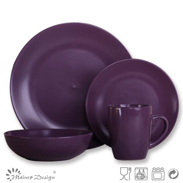 Ceramic Kitchenware/crockery Dinner Set/purple Dinnerware