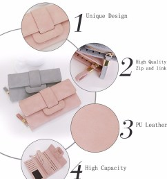online shopping new fashion woman leather zipper clutch bag lady wallet purse [ 790 x 1000 Pixel ]
