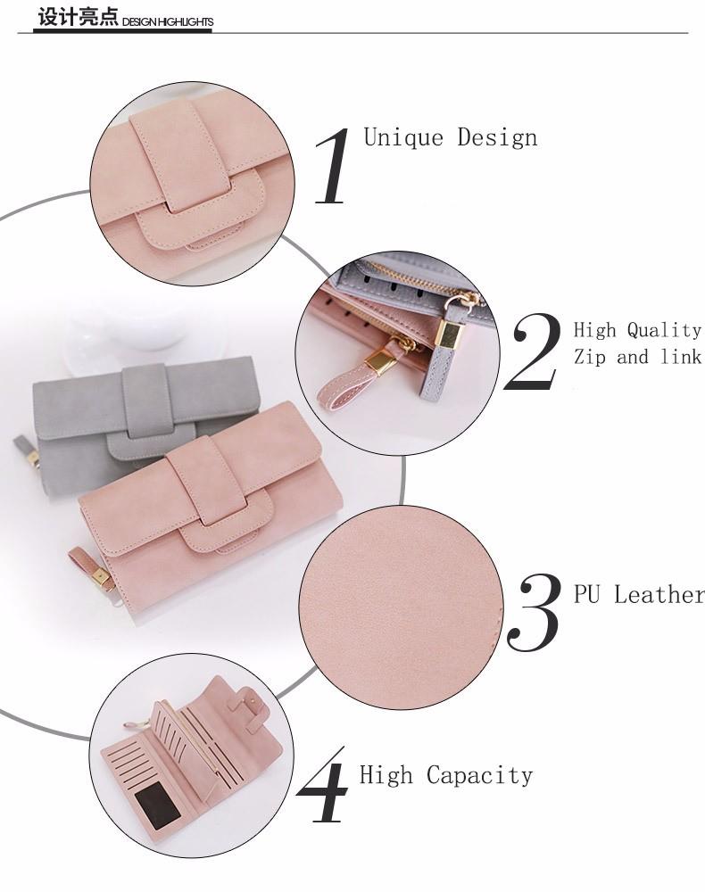 medium resolution of online shopping new fashion woman leather zipper clutch bag lady wallet purse