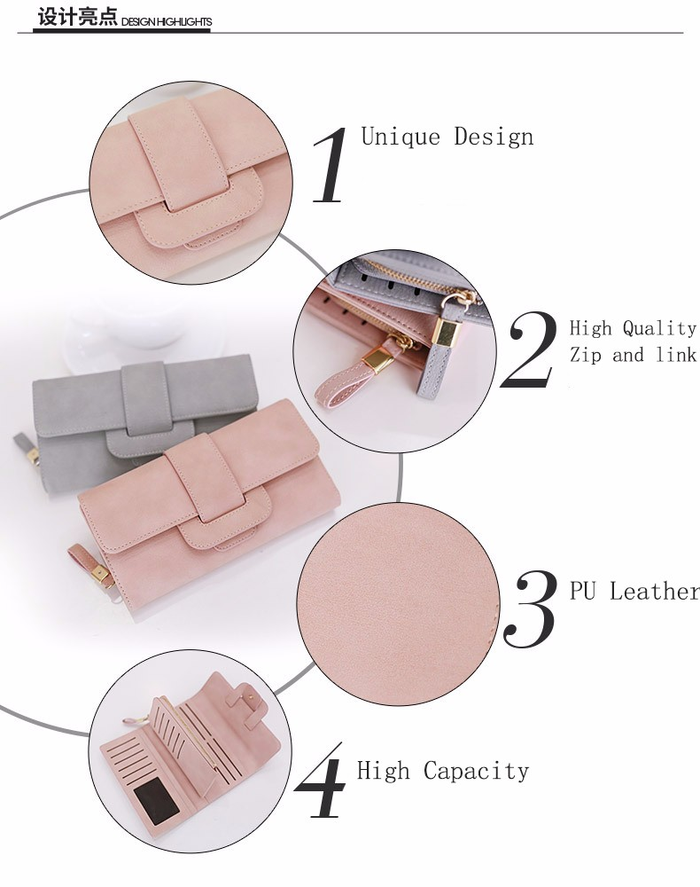 hight resolution of online shopping new fashion woman leather zipper clutch bag lady wallet purse