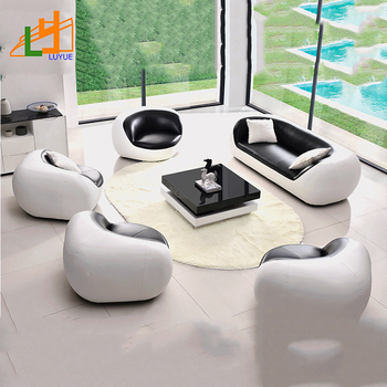 living room prices mirrors for wall special design and low price colorful round corner genuine leather 5 seater sofa set