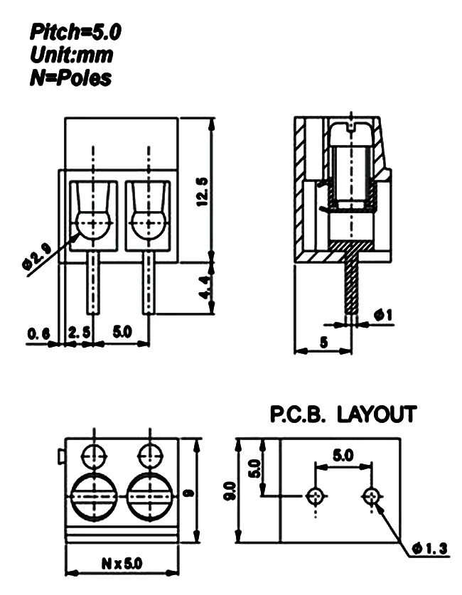 Screw Type Pcb Crimp Terminal Block And Industry Project