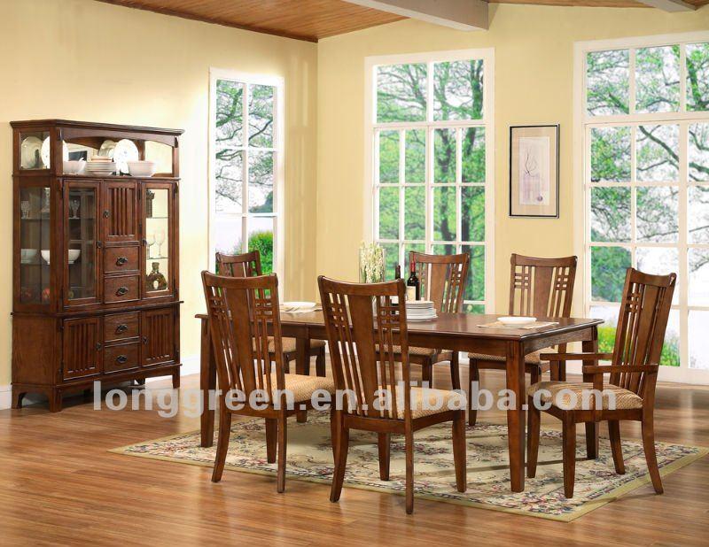 Estilo americano de madera slida losa de mesas de comedor