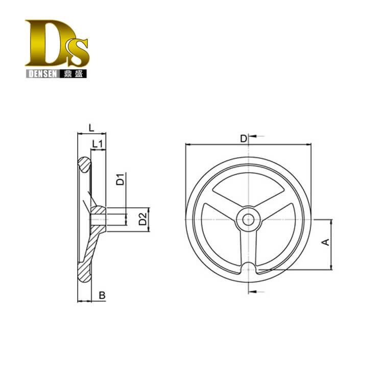 Densen Customized Aluminium Hand Wheel used on machines