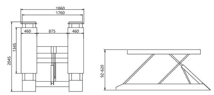 Scissor Car Lifts Auto Car Platform Lift Table For Car
