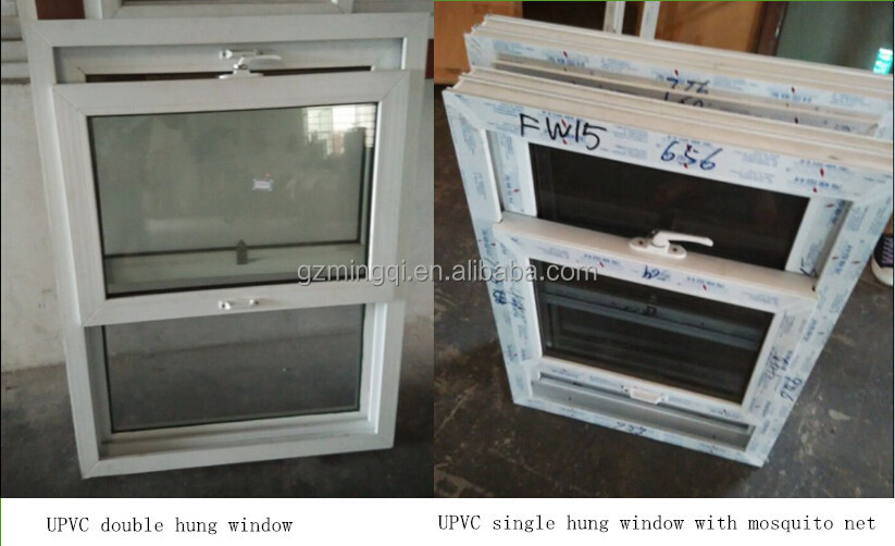 Colorful Glass Vertical Sliding Upvc Double Hung Window