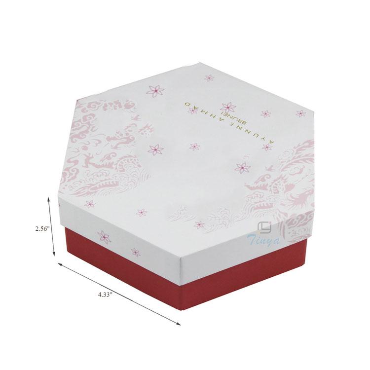 Hexagon Shape Custom Printed Bakery Boxes Design Buy Bakery Boxes