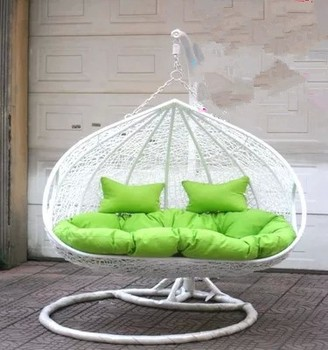 hanging chair double democratic national committee swinging rattan swing glass indoor outdoor cheap