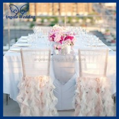 Fancy Chair Covers For Sale Office Wheel Replacement Ch005e Hot Wholesale Custom Made Organza Ruffled Curly Willow Blush Pink Wedding