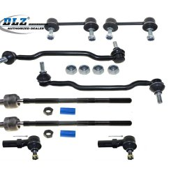 get quotations dlz 8 pcs suspension kit 2 inner 2 outer front tie rod end 2 front [ 1200 x 1200 Pixel ]