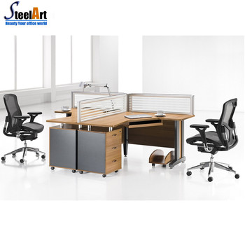 4 people office desk double side office desk with drawers office partition design