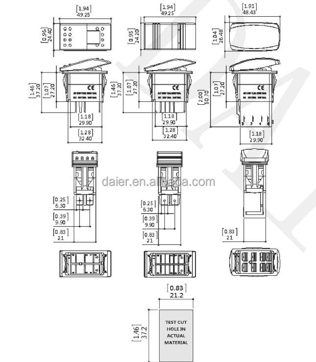 Automotive Rocker Switch Panel,Bunny Burners Boat Switch