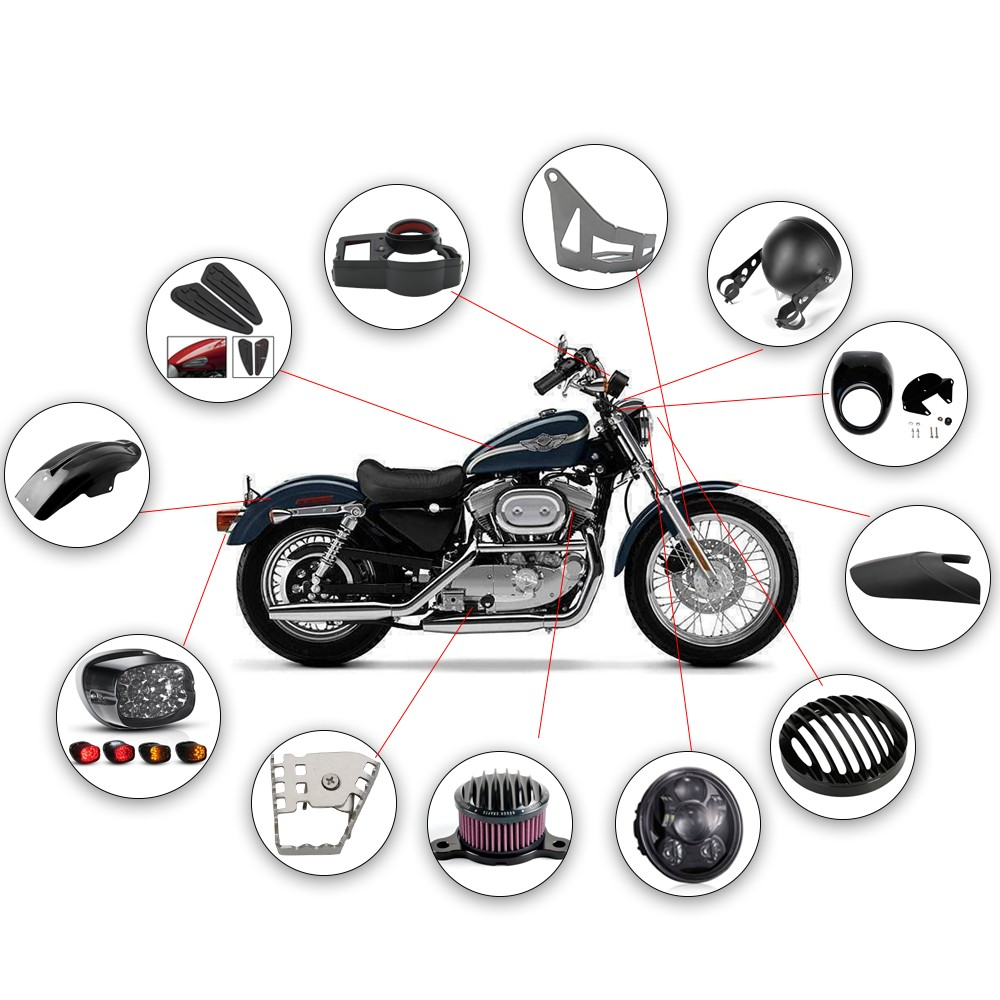 Brand New 5.75 Inch Black Aluminium Motorcycle Headlight