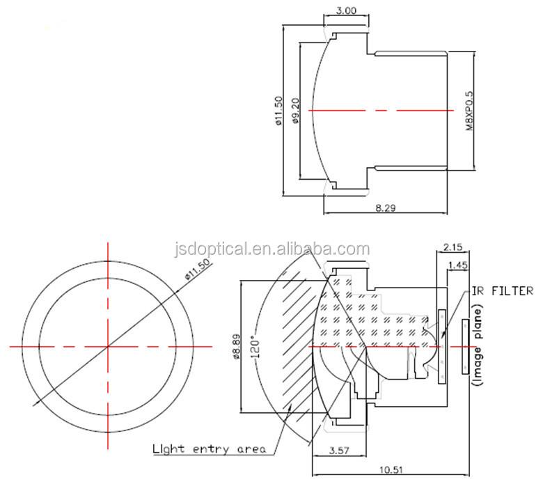 Ov7740 Optical Format 0.95mm Focus Camera Board M12 Wide