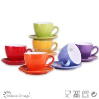 5oz Colorful Ceramic Cup And Saucer Set/cheap Ceramic ...