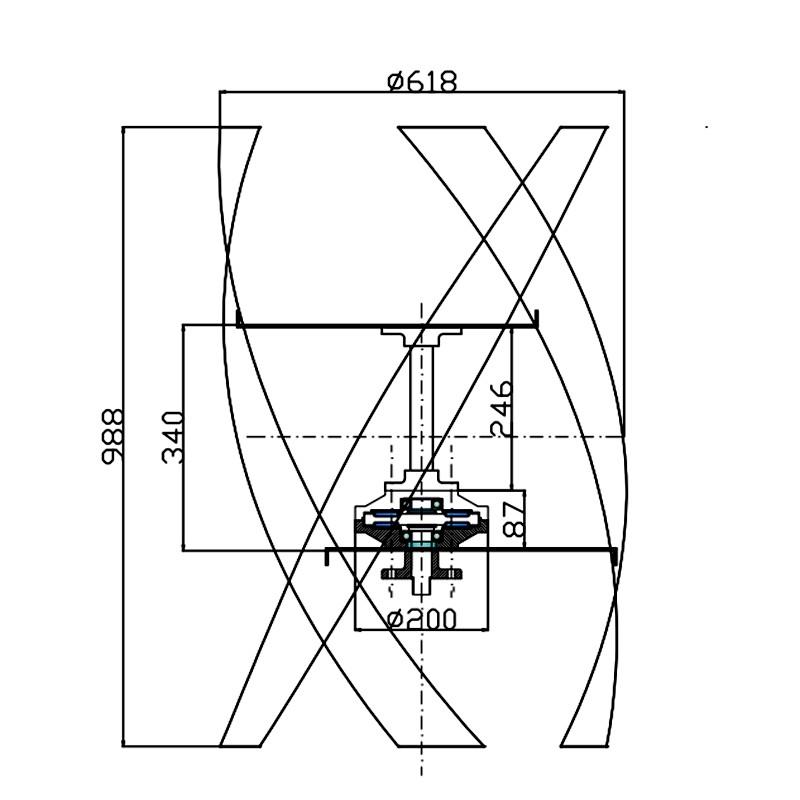 Ce 600w Micro Maglev Wind Turbine Free Mppt Controller