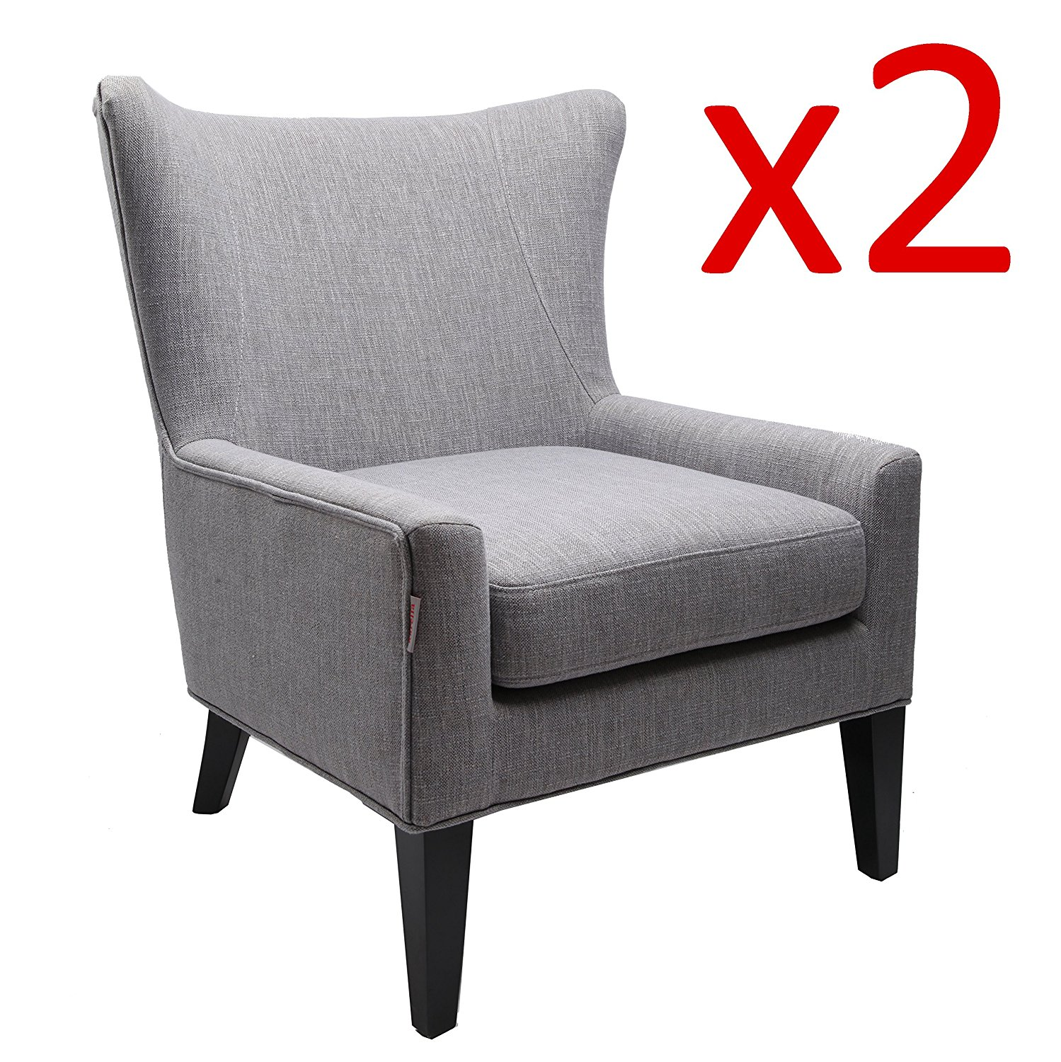 upholstered bedroom chair with arms shaker dining chairs buy finnkarelia tall wingback fabric accent armchair modern club sofa contemporary living room seat