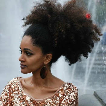 Natural Afro Ponytail Extension Human Hair Ponytails Afro Kinky