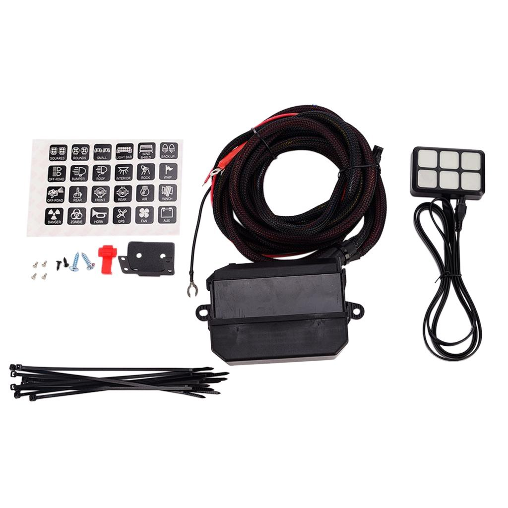 hight resolution of get quotations baoblaze universal 12v 24v car boat trailer 6 gang touch switch relay wiring kit