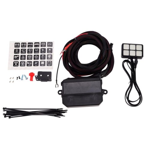 small resolution of get quotations baoblaze universal 12v 24v car boat trailer 6 gang touch switch relay wiring kit
