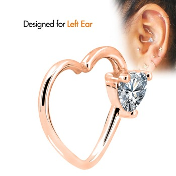 cartilage piercing diagram lawn mower ignition switch toposh body clear heart cz right closure daith earring 16 gauge tragus