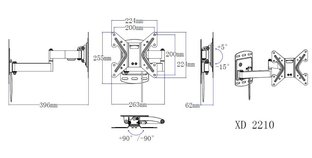 Mounting Dream Swing arm wall mounts Fits for 26-42