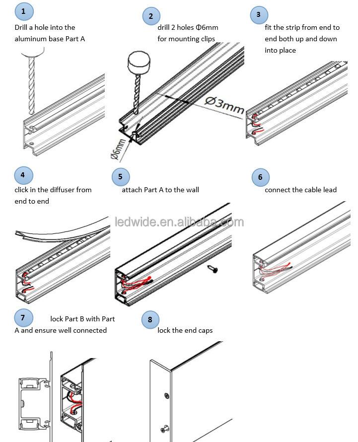 Hella Cheap Led Light Bars Wall Lighting Aluminium Led