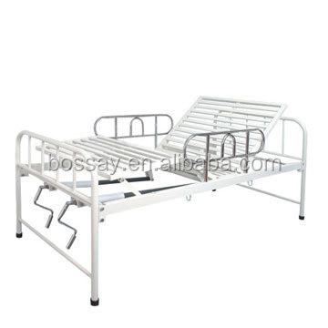 Bossay deux renouvelable leviers manuel lit d'hôpital