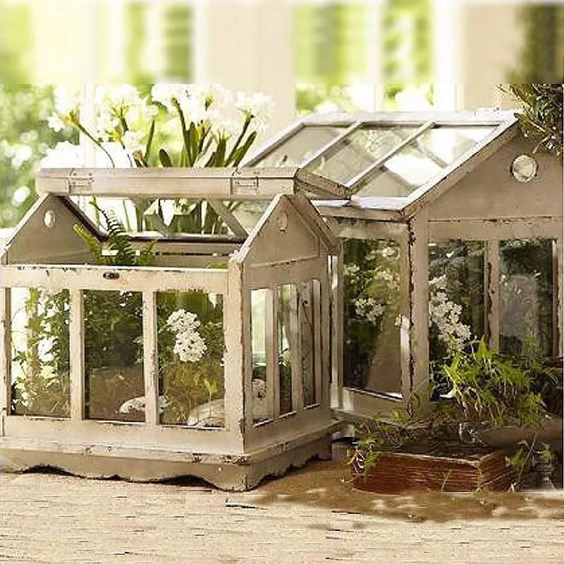 mini serre en bois naturel bois et verre decoration de jardin francais buy serre en bois mini serre serres de jardin en bois product on alibaba com