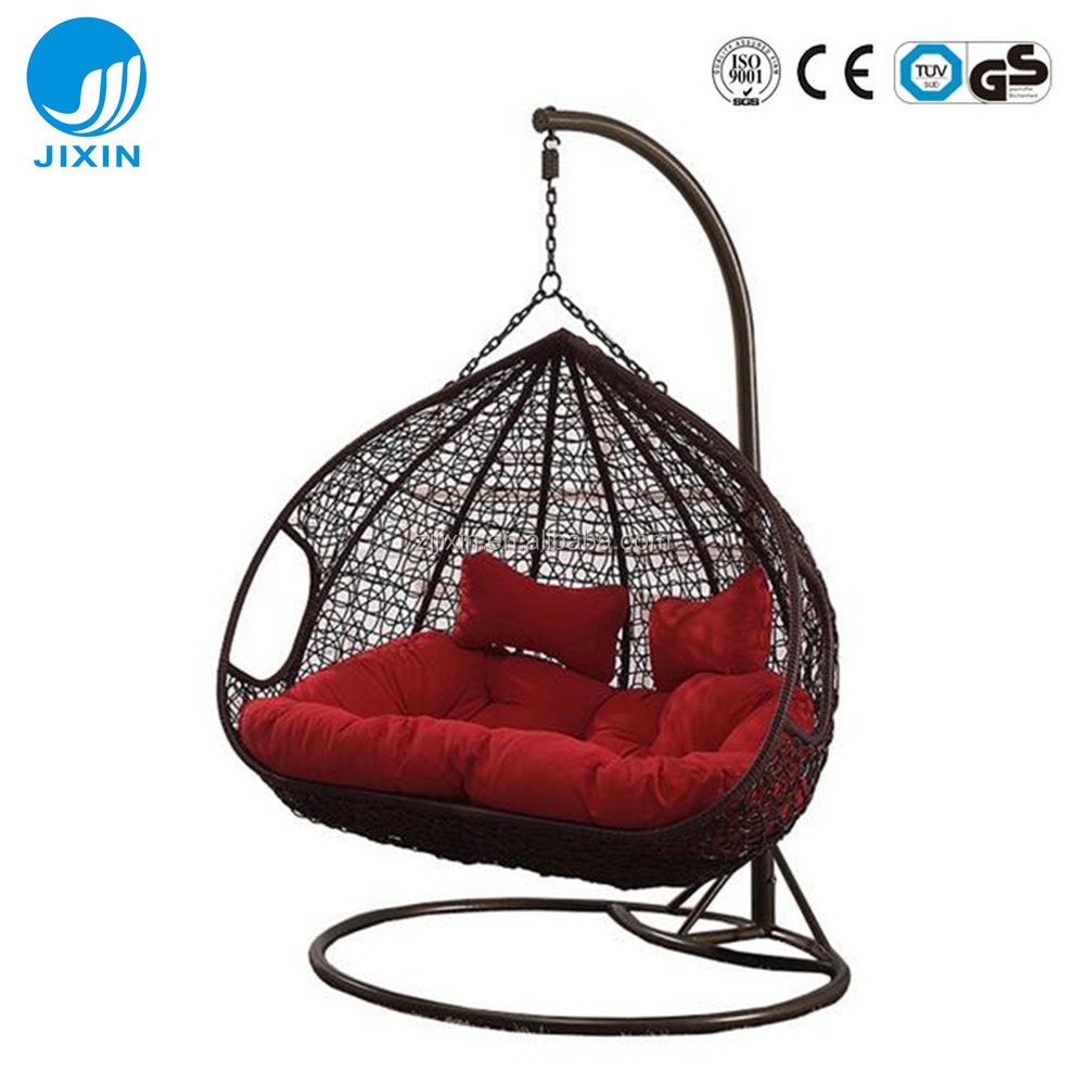 Swing Chair Stand Patio Rattan Wicker Double Seat Hanging Egg Swing Chair With Metal Stand Buy Rattan Wicker Hanging Egg Swing Chair Hanging Swing Chair Swing Chair