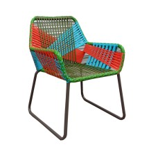 Colorful Wicker Outdoor Chairs
