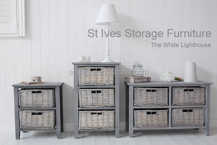 Grey Wicker Basket Organizer Drawer Cabinet Wooden Cd Storage Drawer  Buy Cd Storage DrawerCd