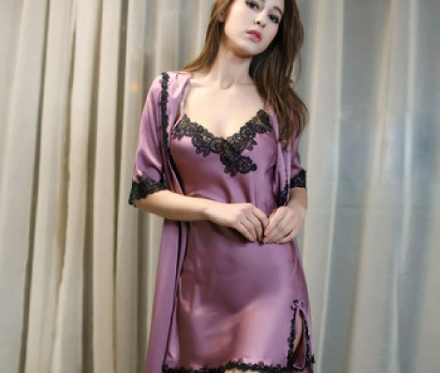 Sexy Womens Nightgown With Robe