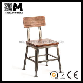 industrial metal chairs cool gaming chair wooden seat lyon