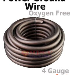 get quotations ultra flexible black oxygen free 4 gauge awg power ground stranded wire cable car audio copper [ 1200 x 1500 Pixel ]