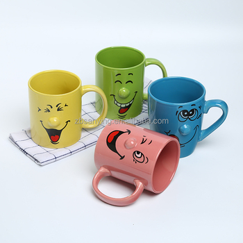 smiling face coffee mugs